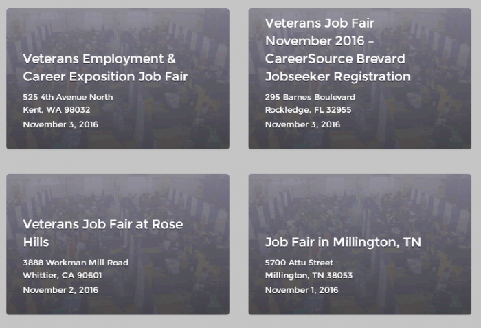 Veteran job fairs in full swing